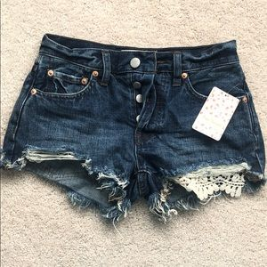 Free People blue jean shorts